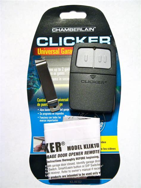 Chamberlain Clicker Remote Klik1u Garage Door Opener How To Program Clicker Garage Door Opener