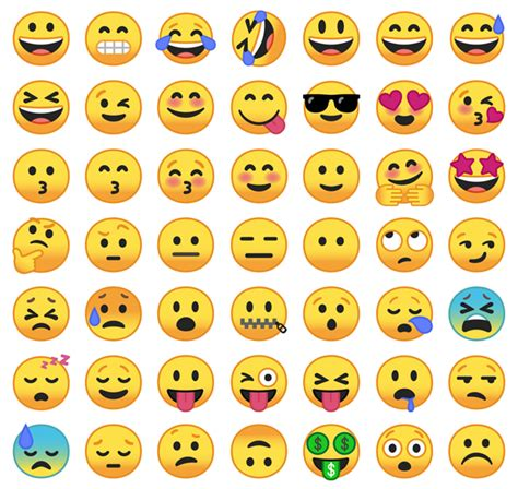 emojis for android free these are the new android emojis rip blob tech galleries paste