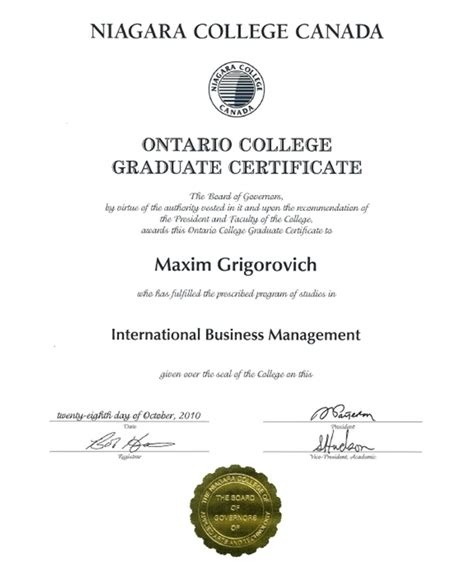 Niagara Mba Curriculum by Photos Graduate Business Certificates Gallery Photos