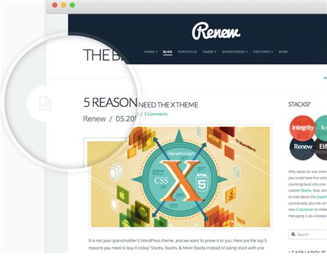 x theme blog layout x the all in one wordpress theme you need