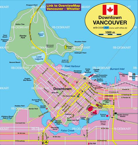 map of vancouver canada map in the atlas of the world
