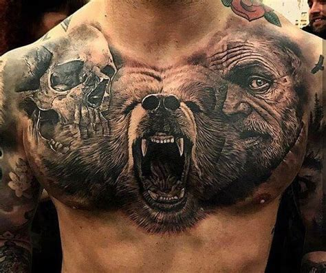 badass chest tattoos for men badass tattoos for ideas and designs for guys