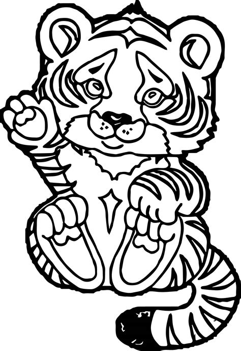baby tiger coloring pages az sketch coloring page