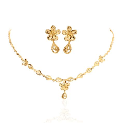 oriana  light weight jewellery floral slim gold