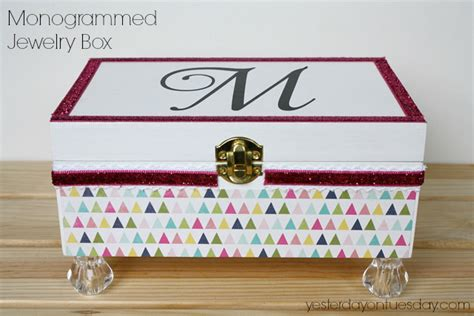 Cheap Home Decor Ideas Pinterest Monogrammed Jewelry Box Yesterday On Tuesday