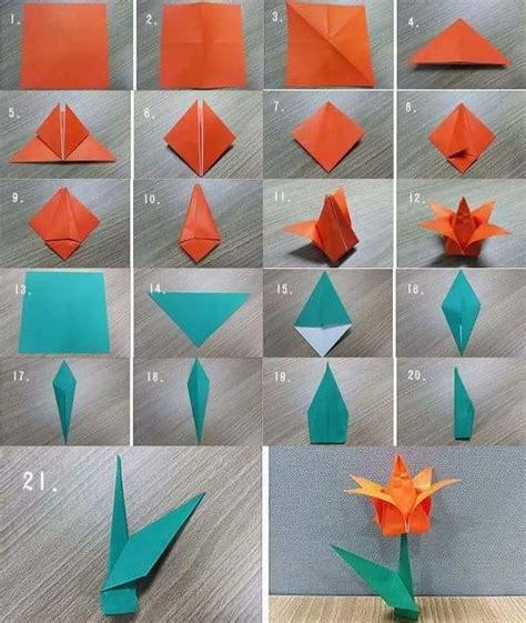 flower origami tutorial easy 47 super easy diy paper crafts kids would love