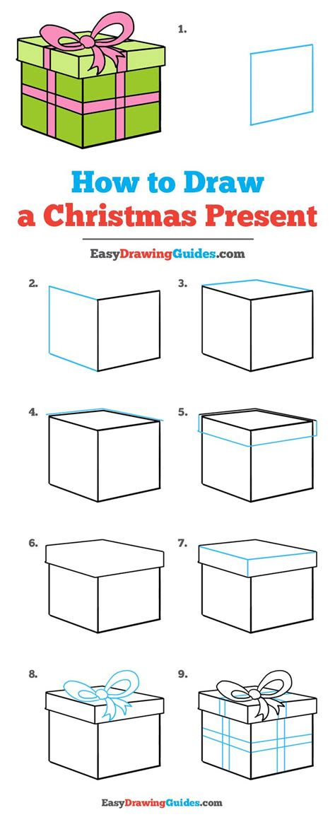christmas drawing step by step and gift to gift cartoon best 25 easy drawings ideas on tree drawing easy