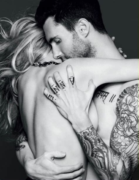 tattoo couple model couple love maroon5 tattoos image 244030 on favim com