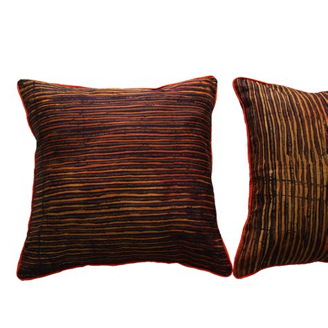 Cushions For Brown by Brown And Burnt Orange Batik Cushion