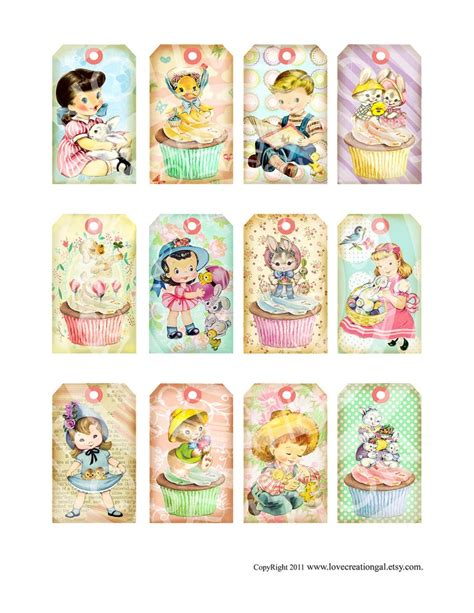 gift tags vintage clipart finders vintage shabby chic easter bunnies boy children