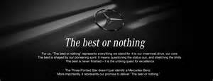 Mercedes Slogan The Best Or Nothing Landing Page