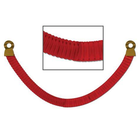 roter teppich absperrung raumdeko rote vip absperrung aus wabenpapier 2 4 m g 252 nstig