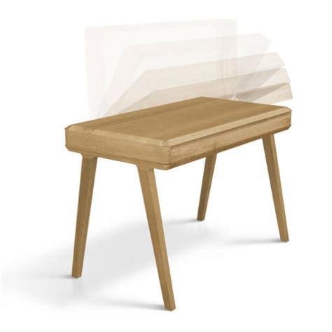 slim and minimalist fino desk of solid wood