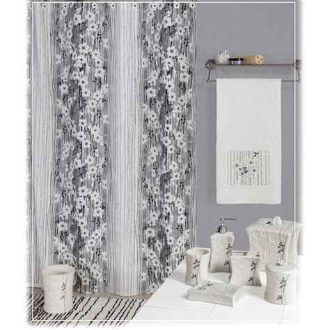 bath shower curtains and accessories blossoms shower curtain bath accessories by creative