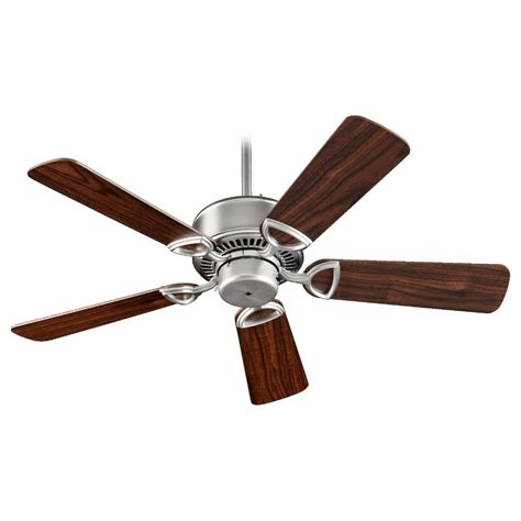 quorum ceiling fans with lights quorum lighting estate satin nickel ceiling fan without
