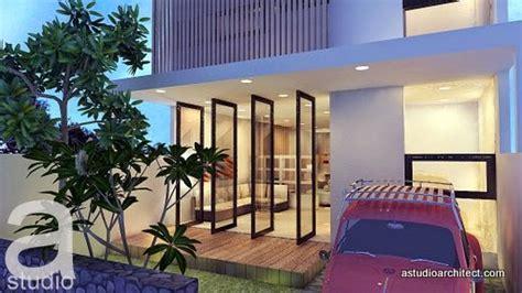 desain rumah open plan a rumah diatas lahan 7 5x17m dengan open plan kode 015