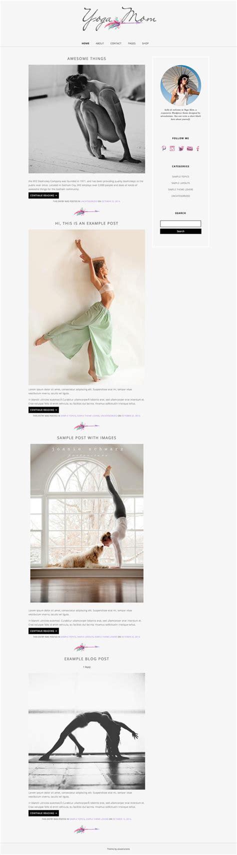 theme blog elegant wordpress template mobile responsive design shop