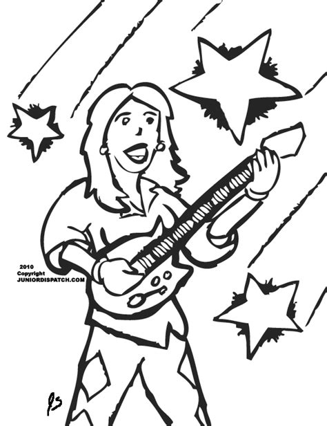 coloring page of a rock star rock star color sheets coloring page