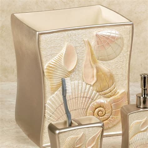 shell bathroom accessories sea shell coastal bath accessories