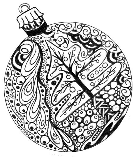 google printable christmas adult ornaments tree coloring pages for adults 2018 dr