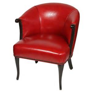 leather barrel chair at 1stdibs