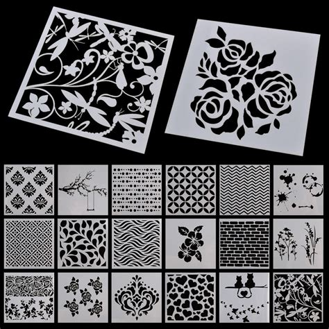 retro wall stencils patterns and tips from 7 reader wall painting grain stencil vintage pattern reusable