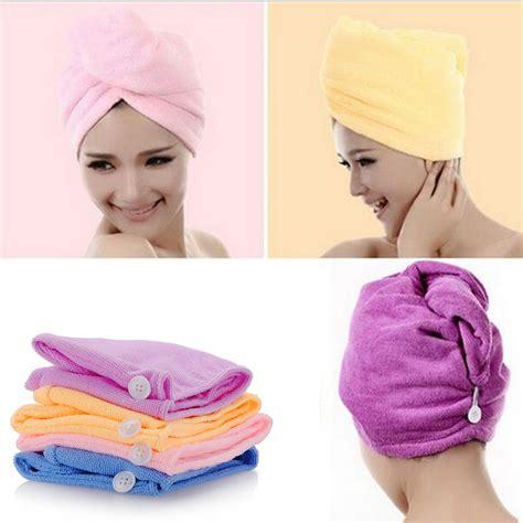 Hair Dryer Or Towel turbie twist hair drying wrap towel soft turban bath