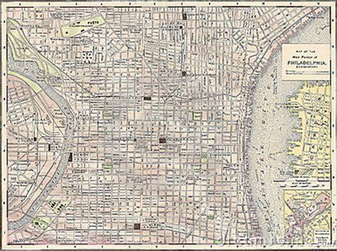 vintage  map   city  philadelphia stock photo