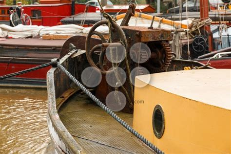 old boat equipment old boat equipment fore deck popular stock photos