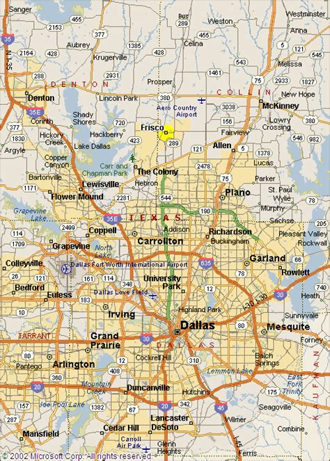 frisco texas map frisco tx map