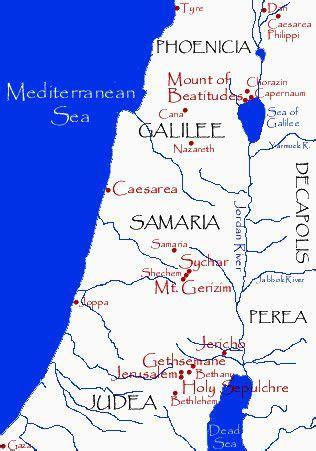 map   provinces  galilee samaria  judea