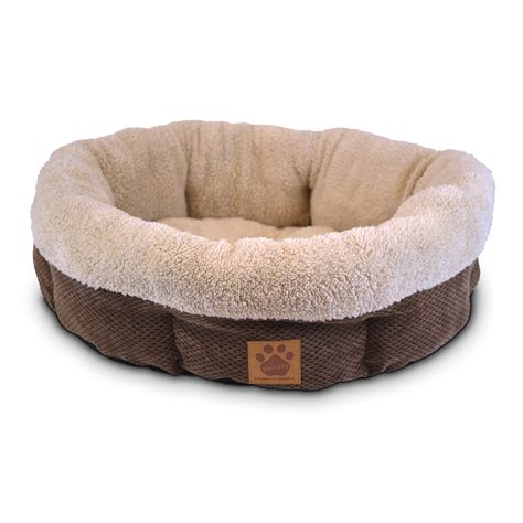 dog bed precision pet natural surroundings shearling dog bed
