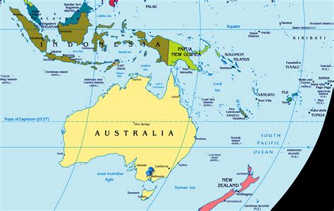 australian map of world australia map world