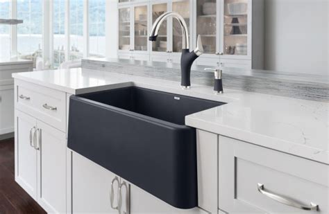 black apron front kitchen sink blanco ikon 30 blanco