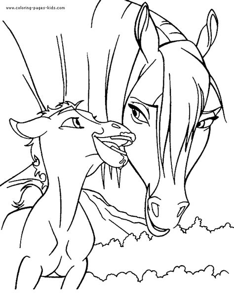 coloring pages of horses and foals horses coloring book page with foal