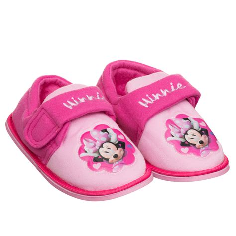 minnie mouse bedroom slippers b m girls character slipper 269449