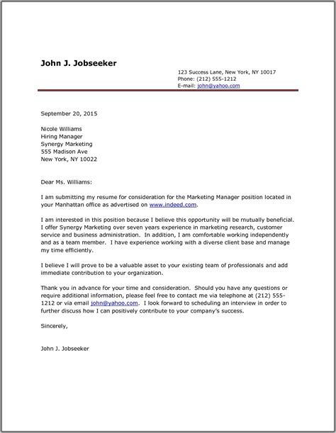 cover letter for resume format doc sle cover letter for application doc easy resume