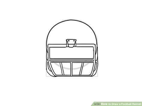 How To Draw A Football Helmet