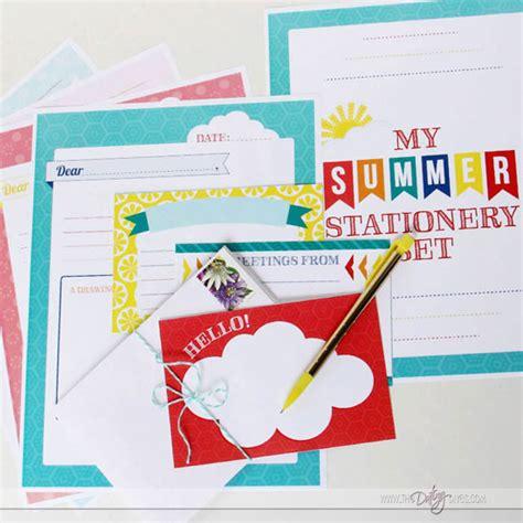 printable stationery set summer boredom buster printable pack