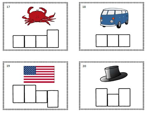 Elkonin Boxes Worksheets by Tchrgrl Free Elkonin Task Cards
