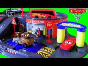 Lightning Car Fitment Centre Disneypixarcars Auto Parking Garage Playset With Lightning
