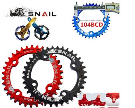 Chainwheel Sepeda 104bcd 34t snail bicycle mountain bike mtb oval and crankset chainring chainwheel 32t 34t 36t
