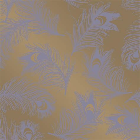 gold temporary wallpaper feathers hollywood regency gold lavender removable