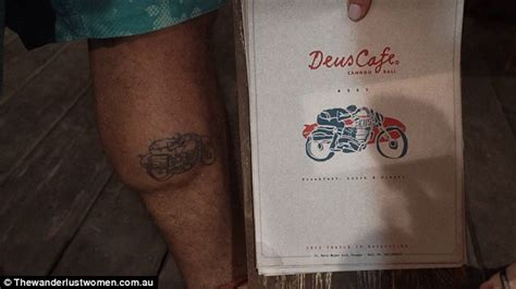 free tattoo canggu video shows travellers get free tattoos at bar in a small