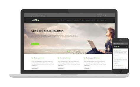 mixspot responsive blogger com template for business