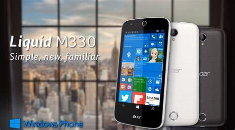 mobile acer acer liquid m330 con windows 10 y 4g lte poderpda
