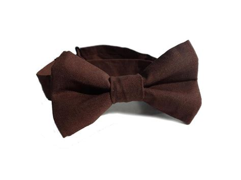 Pcb 828 Brown Size 23 bow tie brown bowtie for boys on luulla