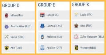 Calendario Europa Calendario Europa League Date E Orari Delle Prossime