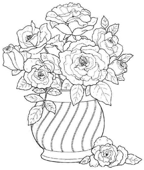 coloring pages field of flowers flower bouquet coloring pages field of flowers coloring