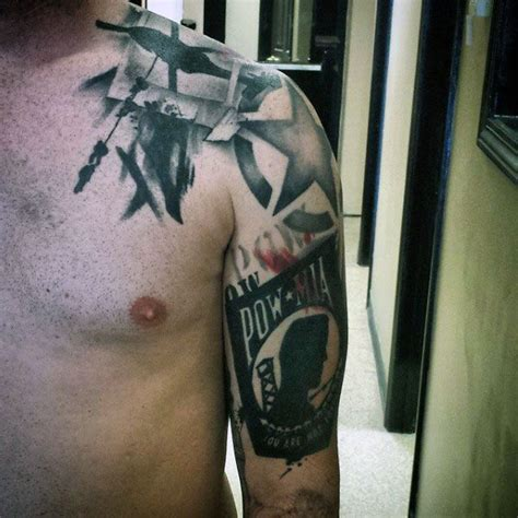 tattoo ideas for veterans 30 pow mia tattoo designs for men veteran ink ideas